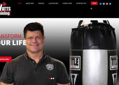Solia Media Designed Website for Watts Training