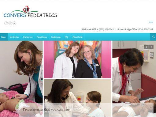 Solia Media Website for Conyers Pediatrics