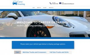 Solia Media Designs Website for Carter Detailing. Cartrer Detailing is locally owned and operated by Brennan Carter serving Athens, Loganville, Monroe, Oconee, Watkinsville, Walton, Newton, Conyers, Covington and Rockdale.