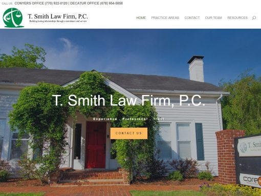 Solia Designs Tricia Smith Law Firm Website