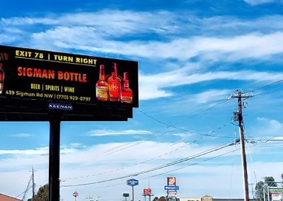 Solia Media Billboard Designs - Sigman Bottle Shop Conyers