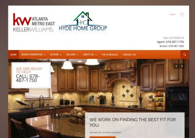 Solia Website for The Hyde Home Group – East Metro Atlanta