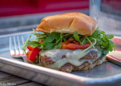 Solia Media Food Photography - Tin Plate Conyers Lambburger