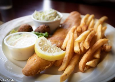 Solia Media Food Photography - Celtic Tavern Fish and Chips