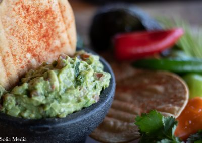 Solia Food Photography - Las Flores Olde Town Mex GUACAMOLE - Best in Conyers