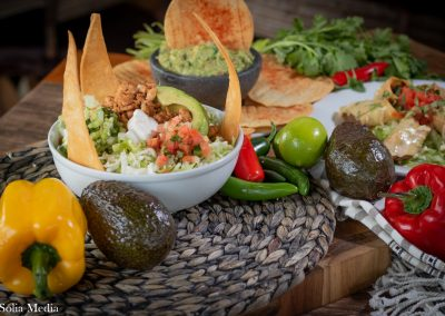Solia Media Food Photography - Las Flores Olde Town Mex dishes