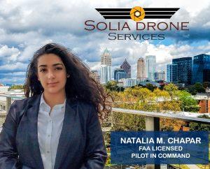 Solia Media FAA Certified Drone Pilot - Natalia Manal Chapar - Top Pilots Conyers, Rockdale, Covington, Newton, Monroe, Walton, DeKalb, Henry and more