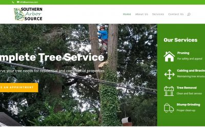 Solia Designs New Website for Southern Arbor Source Tree Service