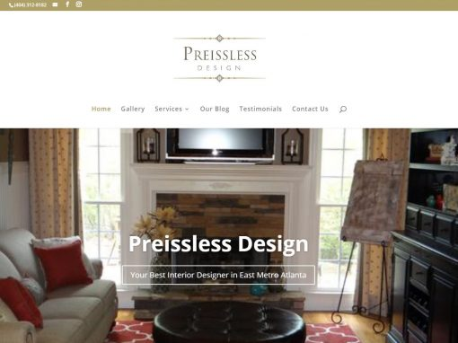 Solia Media Deploys New Website for Preissless Design of Conyers!