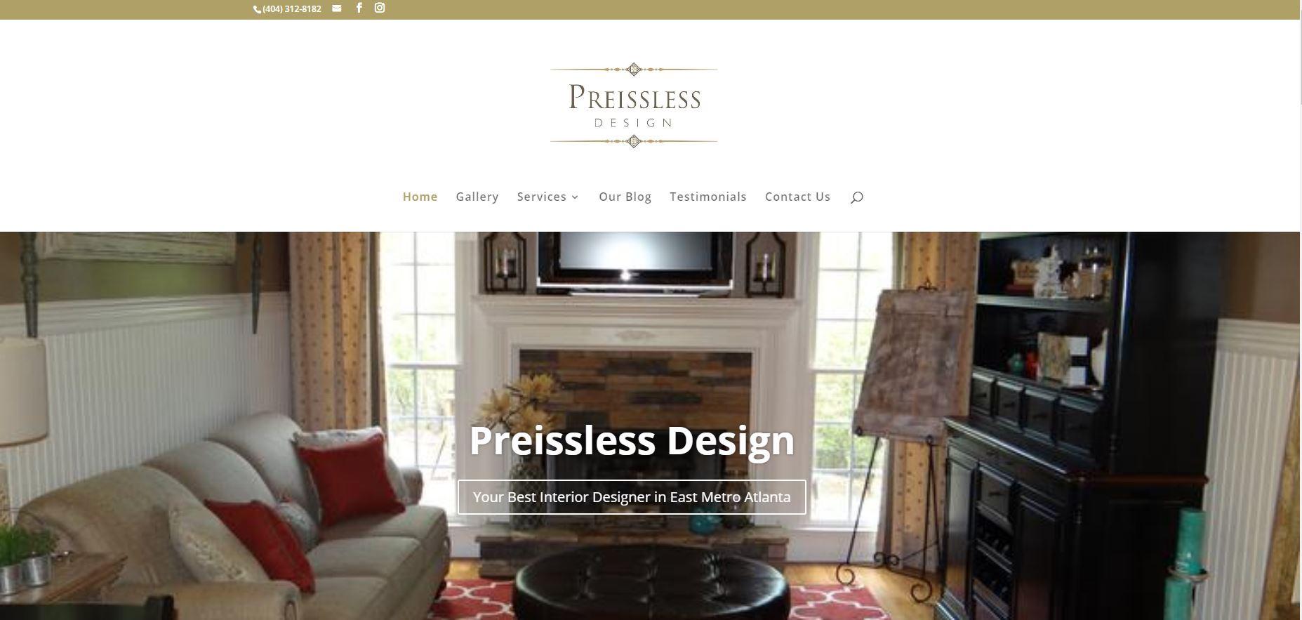 Solia Media Designs New Website for Preissless Design