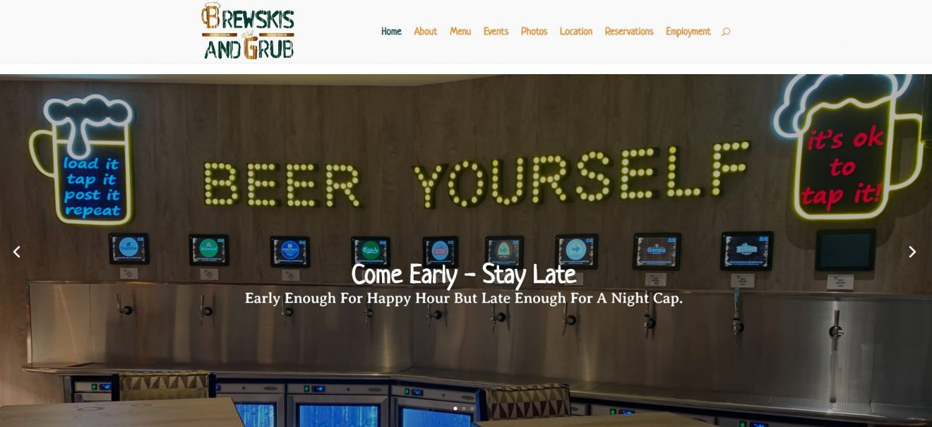 Solia Media Best Website Designer Creates Brewskis and Grub Website - Doha Qatar