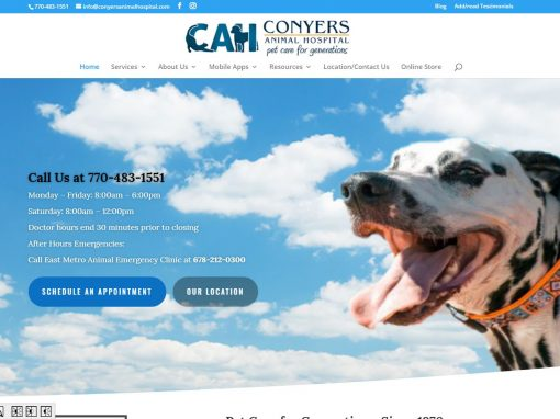 Conyers Animal Hospital – New Solia-Designed Website
